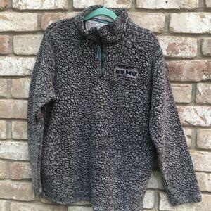 🌿Home Free Grey Teddy Style Jacket Size Large